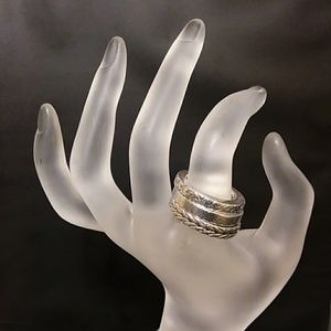Set of 3 Silver Lois Hill Rings